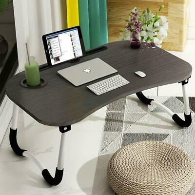 Laptop Bed Tray Table Portable Lap Desk Notebook Breakfast Tray Cup Slot UK  • 16.99£