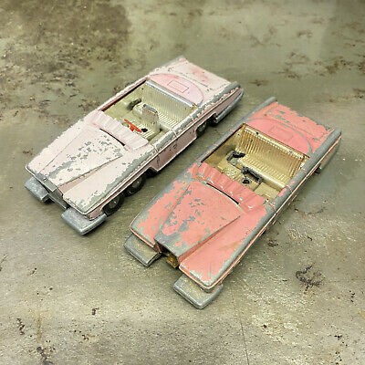 Dinky Toys Lady Penelope's Car Fab 1 Thunderbirds Two Models For Restoration • 35£