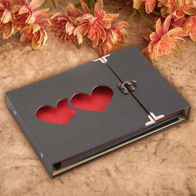 31 Page Photo Album Leather Scrapbook Gifts Vintage Albums Travel Holiday DIY UK • 6.99£