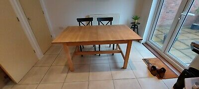 IKEA Norden Birch Dining Table - Extending Sits 4 To 8 People • 99£
