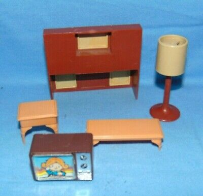 £9.63 • Buy Arco Doll House Furniture TV Hutch Lamp End Table Coffee Table
