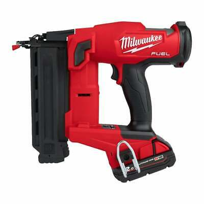 Milwaukee M18FN18GS-202X 18v 2nd Fix Nailer Fuel 18g Nailer 2 Batteries Charger • 479£