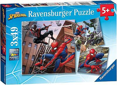 £9.95 • Buy Ravensburger Marvel Spiderman 49 Pieces Puzzle 3 In A Box