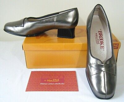 Van Dal Brooke  Redmond , Pewter, Soft Leather Court Shoes, Size 4.5e, Orig Box • 15£
