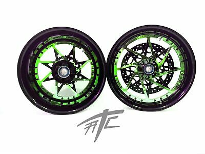 $3099.99 • Buy Gsxr 240 Fat Tire Black/candy Green Switchback Wheels 01-08 Suzuki Gsxr 1000