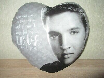 Elvis Presley Heart Cushion, Can't Help Falling In Love, Valentines Present, New • 5£