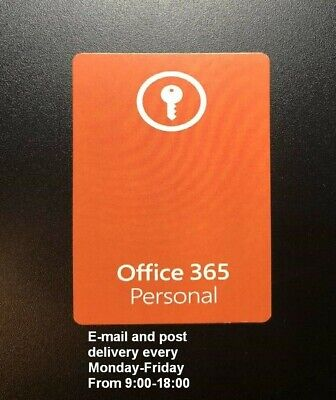 AU79.20 • Buy Microsoft Office 365 Personal - Product Key Card (EU LICENSE ONLY)