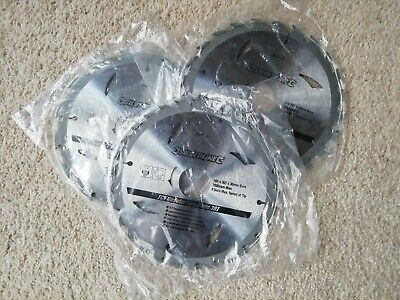 £8 • Buy Circular Wood Saw TCT Blades 160 X 30mm 16 24 30T 3 Pack Silverline Good Value