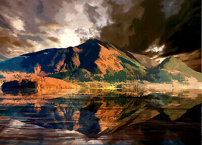 SKIDDAW  LAKE DISTRICT Limited Art Print By Sarah Jane Holt • 15£