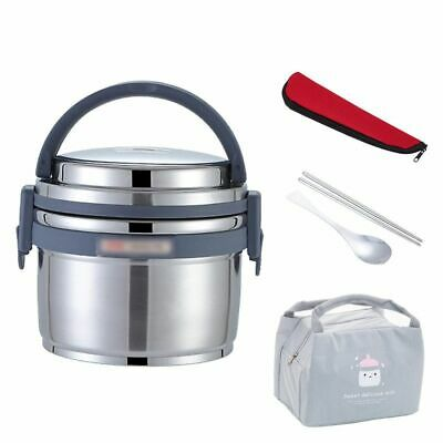 AU94.61 • Buy Thermos Food Container Leakproof Stainless Steel Lunch Box Set Portable Outdoor
