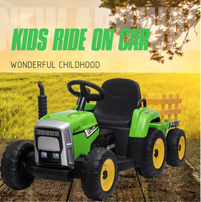 AU239.95 • Buy 12V Ride On Tractor Kids Toddlers Electric Battery Operated  Toy Car Trailer RC