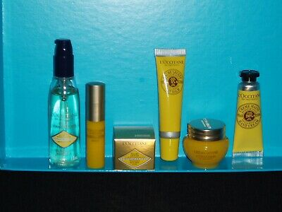 L'occitane Divine Travel Set ~ With Lip Balm And Hand Cream ~ 6pcs + Travel Bag. • 34.99£