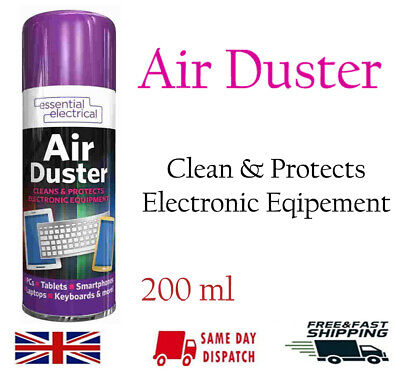Compressed Air Duster Dust Blower Laptop PC Keyboard Mobile 200ml • 4.29£