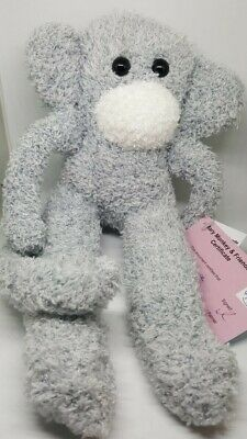 £6.50 • Buy Sock Monkey Six Pence Mothers Day Gift Hand Made Soft Toy Silver Grey Unique