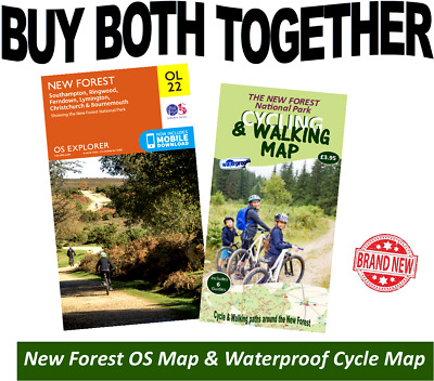 £11.50 • Buy OS Explorer OL22 New Forest Map & Waterproof Cycling & Walking Map New Forest