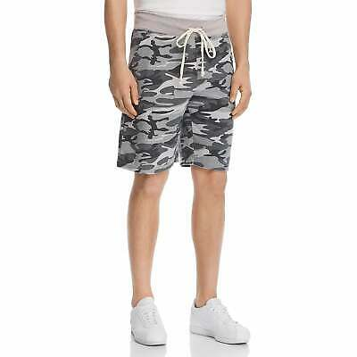 Alternative Apparel LIGHT GREY CAMO Loopside Victory Athletic Shorts, US Large • 19.33£