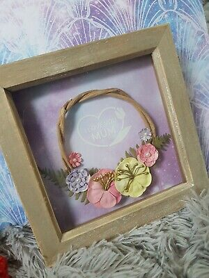I Love You Mum, Mothers Day Gift, Box Frame, Handmade Craft. Wall Hanging 6x6 • 10£
