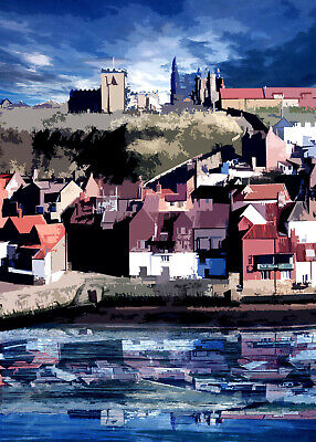 £20 • Buy WHITBY VIEW Special Edition Limited Art Print By Sarah Jane Holt