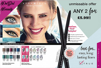 £12.99 • Buy 5 X Avon GLIMMERSTICK RETRACTABLE EYELINER VARIOUS COLOURS TWIST UP Every Colour