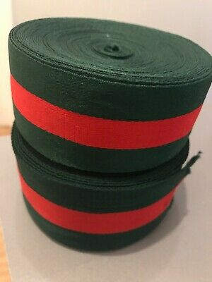 £5 • Buy Green And Red Striped Ribbon. Designer Inspired Trim Ribbon Sold By Yard 1.6  2