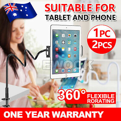 AU11.95 • Buy 360 Rotating Tablet Stand Holder Lazy Bed Desk Mount For IPad IPhone Air Samsung