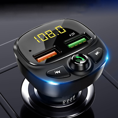 AU39.99 • Buy Car Phone Bluetooth Charger Transmitter FM Radio IPhone Android Wireless Adapter