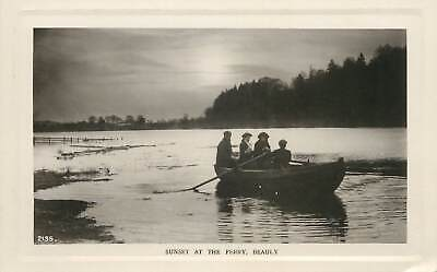 Postcard Scotland Beauly Sunset At The Ferry Rowing Boat Picturesque Scenery • 6.50£