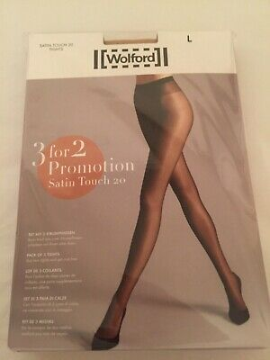 Wolford Satin Touch 20 Tights  3 For 2 Promotion Pack Large Cosmetic Perfect Con • 29£