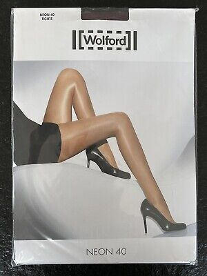 Wolford Tights Neon 40 XS Extra Small Nebbiolo • 17.62£