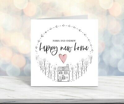 Personalised Happy New Home Card, New House Card, Moving House Card • 2.99£