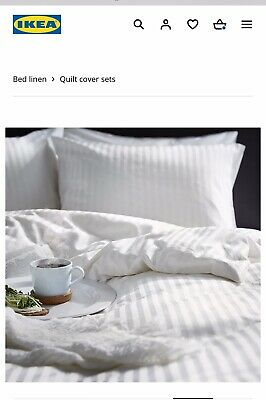 Ikea Single Duvet Cover Set Never Used White • 18.99£