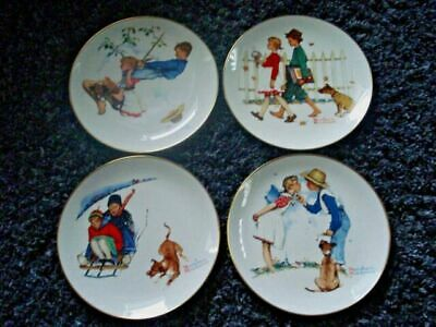 $ CDN22.60 • Buy Set Of 4 Normal Rockwell Collector Plates: 1972  The Four Seasons --11  Diameter
