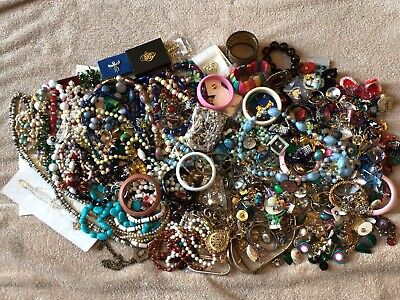$ CDN214.58 • Buy HUGE Vintage To Now Costume Jewelry LOT UNSORTED UNSEARCHED UNTESTED