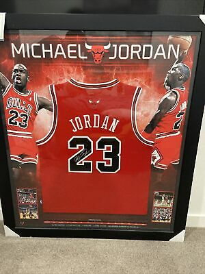 AU2999 • Buy Michael Jordan Signed And Framed Jersey Memorabilia Chicago Bulls
