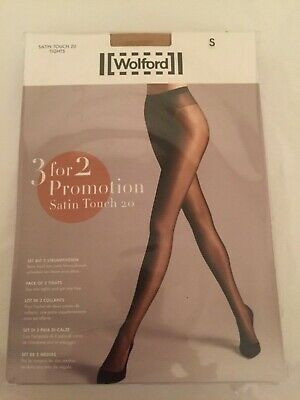 Wolford Satin Touch 20 Tights  3 For 2 Promotion Pack Small Cosmetic Perfect Con • 23.90£