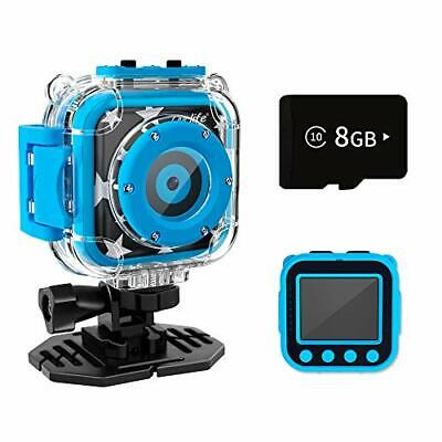 Ourlife Kids Waterproof Camera With Video Recorder Includes 8GB Memory Card Blue • 24.65£