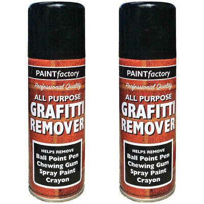 2x Graffiti Remover Spray Paint Can Wall Metal Wood Stone Home Walls 5242 250ML • 7.99£