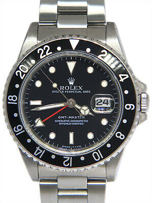 $ CDN13825.48 • Buy Rolex GMT-Master Steel Black Dial/Bezel Red Hand Mens 40mm Automatic Watch 16700