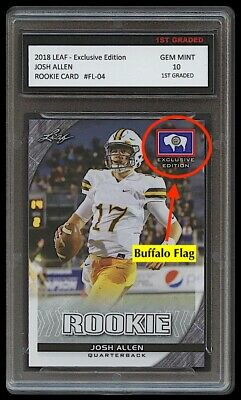 $22.49 • Buy Josh Allen 2018 Leaf Exclusive Edition 1st Graded 10 Rookie Card Buffalo Bills