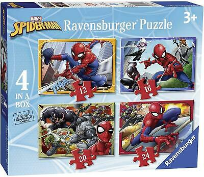 £12.95 • Buy Ravensburger Spider Man 4 In A Box Puzzle For Kids Age 3 And Up