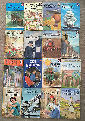 16 Vintage Ladybird Books Various Series Story Of,People At Work,'WLT'Etc. • 35£