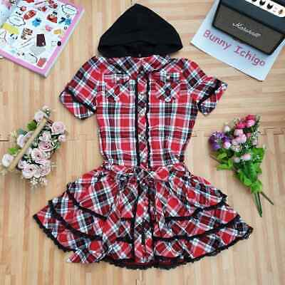 $ CDN45.66 • Buy 🍓 Tralala 🐰 Women Dress Hoodie Plaid Lolita Punk Hime Gyaru Tokyo Fashion Cute