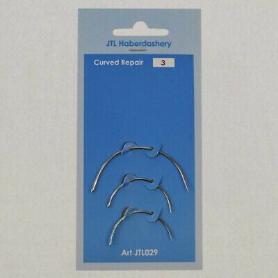 £1.89 • Buy Hand Sewing Curved Needles  Repair Upholstery Craft 3pcs