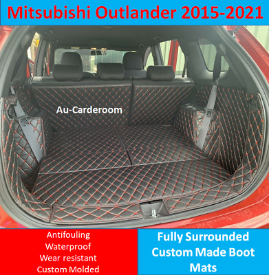 AU128 • Buy Custom Made Trunk Boot Mats Liner Cargo Cover For Mitsubishi Outlander 2015-2021