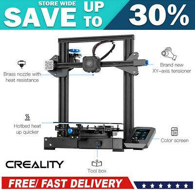 AU359.99 • Buy CREALITY 3D Resume Print Ender-3 V2 3D Printer Kit 220*220*250mm+3D Printing Pen