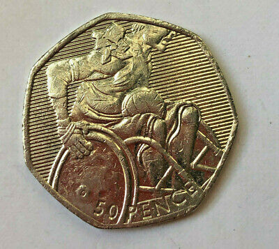 £2 • Buy 2012 London Olympics Paralympics (2011) 50p Wheelchair ALL PROCEEDS TO CHARITY
