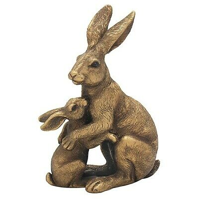 £14.95 • Buy Reflections Bronze Hare Mother And Baby  - The Leonardo Collection