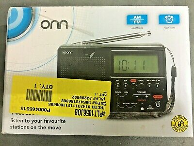 Onn AM/FM Digital Portable/Pocket Radio - Battery Powered (2 X AA) - Black. • 4.99£