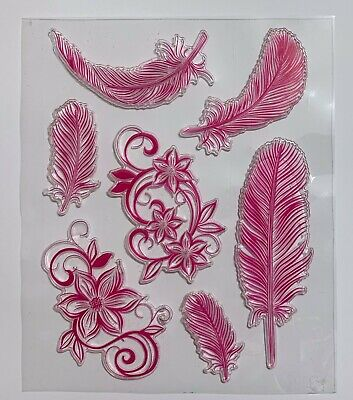 Feathers And Flowers Clear Stamps - Very Pretty • 4.99£