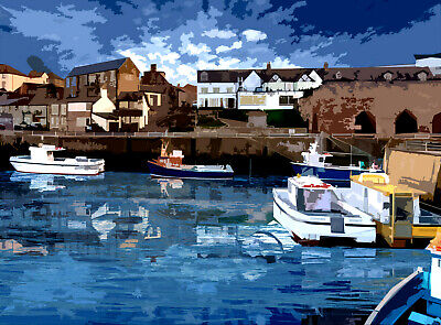 £25 • Buy Seahouses Northumberland  Limited Art Print By Sarah Jane Holt